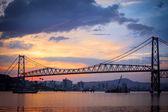 Ponte a florianopolis al tramonto — Foto Stock
