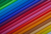 Colored Pencils Diagonal — Stock Photo