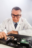 Senior Technician Fixing Laptop — Stock Photo