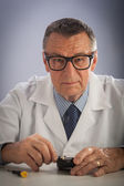 Senior Technician with Glasses — Stock Photo