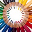 Colored Pencils Circle — Stock Photo