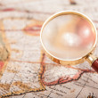 Map with Magnifying Glass — Stock Photo