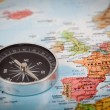 Map with Compass — Stock Photo #21218267