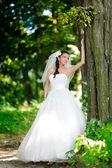 Portrait of attractive bride — Stock Photo