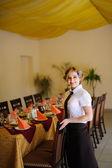 The waiter in the restaurant — Stock Photo