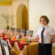 The waiter in the restaurant — Stock Photo