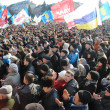 ������, ������: Ternopil UKRAINE DECEMBER 1: Protest on Euromaydan in Ternopil against the president Yanukovych and his government on DECEMBER 1 2013 in Ternopil Ukraine