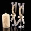 Wedding glass isolated on black background — Stock Photo #45228427