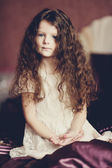 Portrait of little smiling girl — Stockfoto
