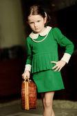 Portrait of  little girl in room — Stock Photo