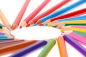 multicolored pencils isolated on white background  — Stock Photo