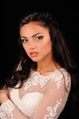 Portrait of Beautiful Woman white  Dress — Stock Photo