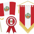 Royalty-Free Stock Vectorielle: Peru flags