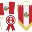 Peru flags - Stock Vector