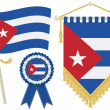 Cuba flags — Stock Vector