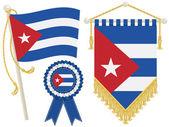 Banderas de cuba — Vector de stock