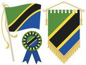 Tanzania flags — Stock Vector