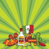 Carte de soirée mexicaine — Vecteur