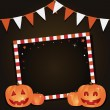 Vector de stock : Halloween party card