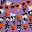 Halloween bunting background — Stock Vector