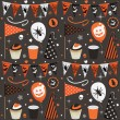 Halloween party pattern — Imagen vectorial