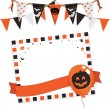 Halloween party kaart — Stockvector
