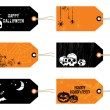 Halloween tags — Stock Vector