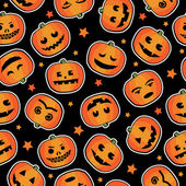 Halloween pumpkin pattern — Stock Vector