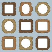 Wooden frames — Stock Vector