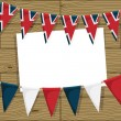 Uk bunting decoration — Stock Vector