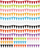 Party bunting pack — Stock Vector