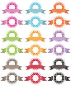 Badges and ribbons — Stock Vector