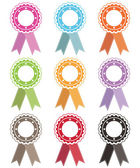 Rosettes with ribbons — Stock Vector
