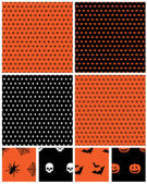 Halloween patterns — Stock Vector