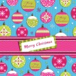 Pink and green christmas wrapping — Stock vektor