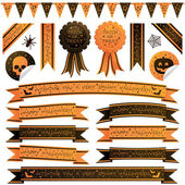 Halloween ribbons — Stock Vector
