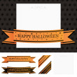 Frame with halloween ribbon — Stock Vector