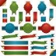 Red green and blue ribbons — Stock Vector #13807288