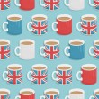 Uk mug pattern — Stock Vector