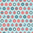 Stock Vector: Uk christmas pattern