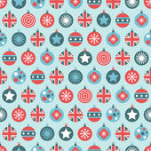 Uk christmas pattern — Stock Vector