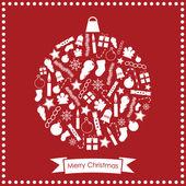 圣诞摆设 — 图库矢量图片