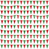 Christmas bunting pack — Stock Vector