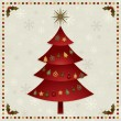 Christmas tree decoration — Stock Vector