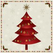 Christmas tree decoration — Stockvektor