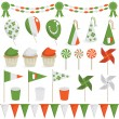 Stock Vector: Irish decorations
