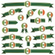 Ireland ribbons — Stock Vector