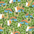 Seamless irish pattern — Stock Vector