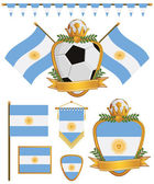 Argentina flags — Stock Vector