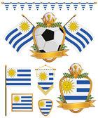 уругвай флаги — Cтоковый вектор